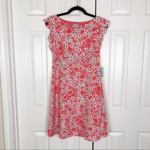 CeCe Dresses - NWT Cece floral ruffle sleeve dress in coral pop